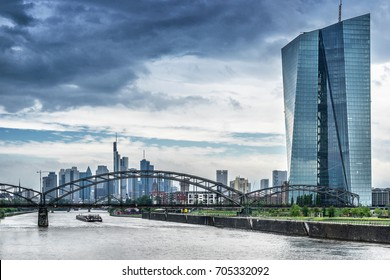 Frankfurt,Germany on 27th July 2017; The European Central Bank  is the central bank for the euro and administers monetary policy of the eurozone.
