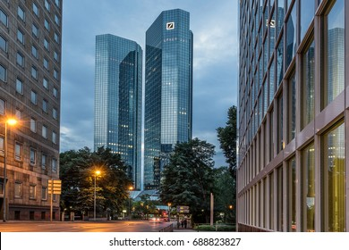 Frankfurt,Germany on 27th July 2017:Deutsche Bank AG is a global banking and financial services company, with its headquarters in Frankfurt. It has more than 100,000 employees in over 70 countries,