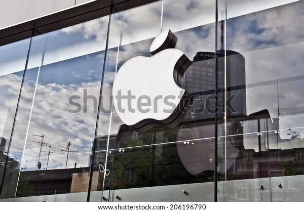 FRANKFURT,GERMANY_JUNE 29:Apple store on June 29,2014 in Frankfurt,Germany.Apple Inc. sells consumer electronics, computer software, services and personal computers.