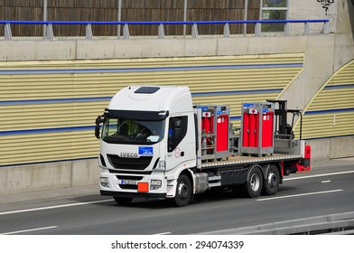 FRANKFURT,GERMANY-APRIL 16: truck on April 16,2015 in Frankfurt,Germany.