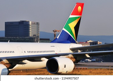FRANKFURT,GERMANY-AUGUST 22,2015:South African Airways Airbus A340-600.