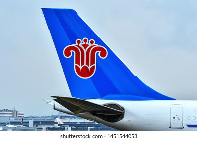 Frankfurt,Germany-July 13,2019:China Southern Airbus A330-200 in airport.