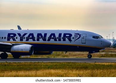 Frankfurt,Germany-July 14,2019:RYANAIR Boeing 737 in airport.