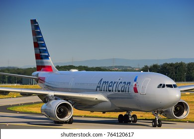 Airline company stock images royalty free images vectors frankfurtgermany july 212017 american airlines n280ay airbus a330 lands at toneelgroepblik Images