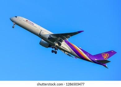 Frankfurt,Germany-July 21,2017: Thai Airways Airbus A350-900.