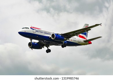 FRANKFURT,GERMANY-JUNE 02,2016:British Airways Airbus A319.