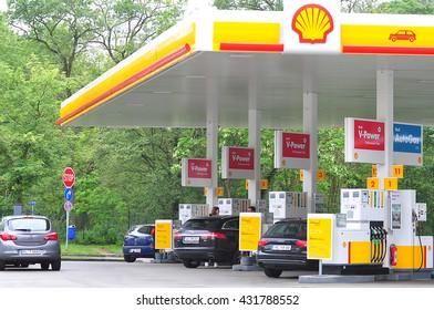 FRANKFURT,GERMANY-JUNE 02:SHELL fuels and petrol station on June 02,2016 in Frankfurt,Germany.