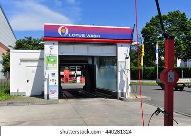 FRANKFURT,GERMANY-JUNE 07: car wash from LOTUS on June 07,2016 in Frankfurt,Germany.
