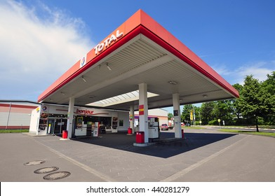 FRANKFURT,GERMANY-JUNE 07:TOTAL gas station on June 07,2016 in Frankfurt,Germany.Total is a French multinational oil company and one of the Supermajor oil companies in the world.
