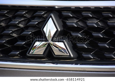 Frankfurtgermanyjune 08 Mitsubishi Logo On June 082017 Stock Photo