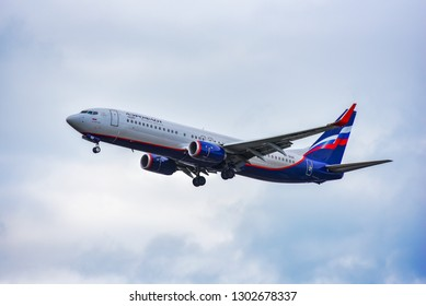 Frankfurt,Germany-June 17,2017: Aeroflot Airlines Boeing 737.Russian Airlines Aeroflot, is the flag carrier and largest airline of the Russian Federation.