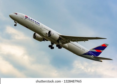 Frankfurt,Germany-June 17,2017: LATAM AIRLINES Boeing  787-9.