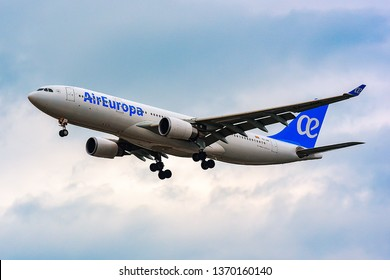 FRANKFURT,GERMANY-JUNE 17,2017:Air Europa Airbus A330.Air Europa  is an airline in Spain, the third largest after Iberia and Vueling.