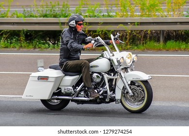Frankfurt,Germany-June 17,2017:unknown Rider on the route.