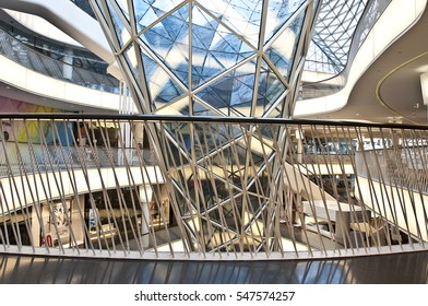 FRANKFURT,GERMANY-JUNE 29:interior of modern building on June 29,2014 in Frankfurt,Germany.