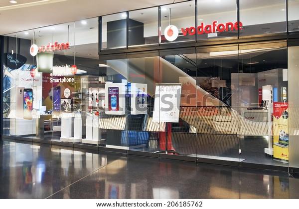 Frankfurtgermanyjune 29vodafone Store On June 29 Stock Photo
