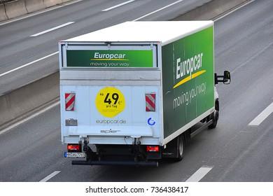 Frankfurtgermanynovember 062017 Europcar Car Rental Office Frankfurt