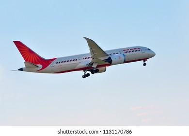 FRANKFURT,GERMANY-MAY 05,2016: AIR INDIA Boeing 787.