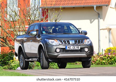 FRANKFURT,GERMANY-MAY 07:MITSUBISHI MOTORS car on May 07,2016 in Frankfurt,Germany.Mitsubish i Motors was the sixth biggest Japanese automaker and the sixteenth biggest worldwide by production.