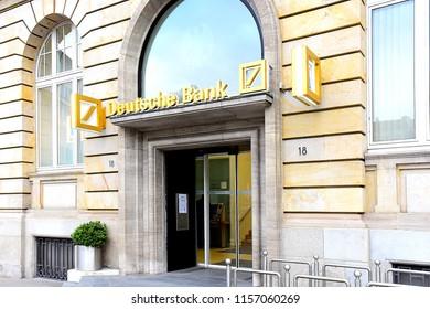 FRANKFURT,GERMANY-MAY 08,21017: view on the DEUTSCHE BANK.