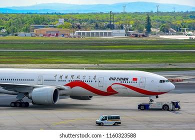FRANKFURT,GERMANY-MAY 09,2017:AIR CHINA Boeing 777-300ER.