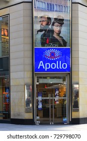 FRANKFURT,GERMANY-MAY 09:APOLLO-OPTIK store on May 09,2017 in Frankfurt,Germany.Apollo-Optik is a global ophthalmic company with offices in about 40 countries.