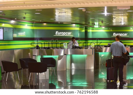 Frankfurtgermanynovember 062017 Europcar Car Rental Office Frankfurt