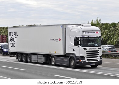 FRANKFURT,GERMANY-OCT 08: truck on the highwayon October 08,2015 in Frankfurt,Germany.
