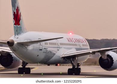 FRANKFURT,GERMANY-OCTOBER 26,2018:AIR CANADA Boeing 787-8.