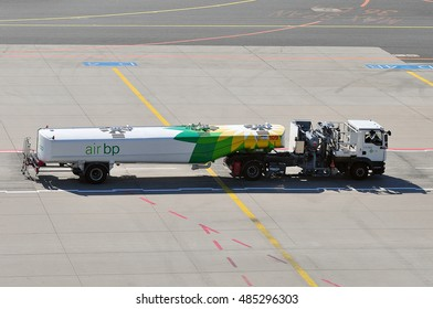 FRANKFURT,GERMANY-SEPT 08:truck of British Petrol in the Frankfurt airport on September 08,2016 in Frankfurt. Germany.British Petroleum-British multinational oil and gas company in London, England.
