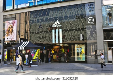on sale 6bb0e 2dc6c FRANKFURT,GERMANY-SEPT 11 ADIDAS store on September 11,2015 in Frankfurt