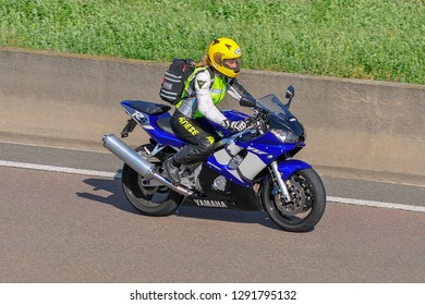 Frankfurt,Germany-September 01,2016: unknown rider on the route.