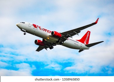 Frankfurt,Germany-September 04,2015:Corendon Airlines Boeing 737-800.  Corendon Airlines is a Turkish leisure airline headquartered in Antalya and based at Antalya Airport.