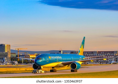 Frankfurt,Germany-September 04,2015:Vietnam Airlines Boeing 777-200ER.