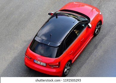FRANKFURT,GERMANY-SEPTEMBER 06,2018: AUDI A1 on the route.