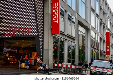FRANKFURT,GERMANY-SEPTEMBER 06,21018: fashion store ESPRIT.Esprit Holdings Limited is a publicly owned manufacturer of clothing, footwear, accessories, jewellery and housewares under the Esprit label.