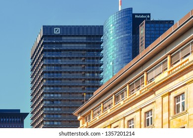 Frankfurt,Germany-September 11,2015:View of banks skyscrapers.