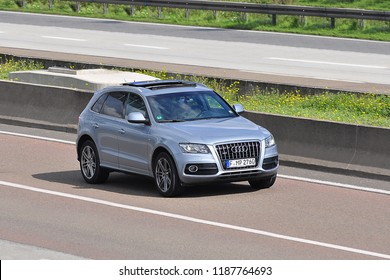 FRANKFURT,GERMANY-SEPTEMBER 24,2015: AUDI on the A5.Audi AG is a German automobile manufacturer in Ingolstadt, Bavaria, Germany.