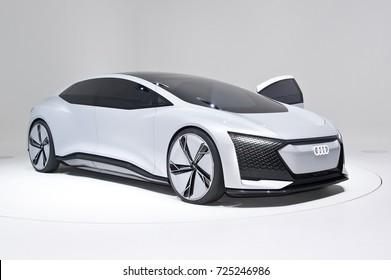 Frankfurt-September 20:  Audi Aicon Concept at the Frankfurt International Motor Show on September 20, 2017 in Frankfurt