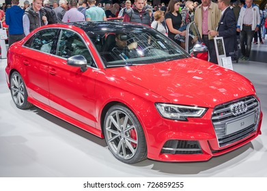 Frankfurt-September 20:  Audi S3 at the Frankfurt International Motor Show on September 20, 2017 in Frankfurt