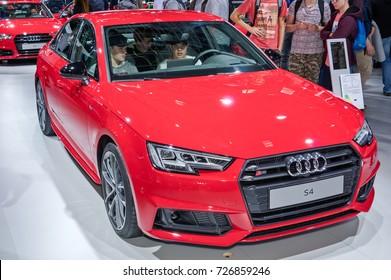 Frankfurt-September 20:  Audi S4 at the Frankfurt International Motor Show on September 20, 2017 in Frankfurt
