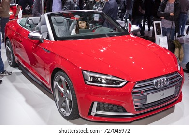 Frankfurt-September 20:  Audi S5 at the Frankfurt International Motor Show on September 20, 2017 in Frankfurt