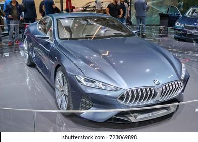 Frankfurt-September 20: BMW 8 series concept  at the Frankfurt International Motor Show on September 20, 2017 in Frankfurt
