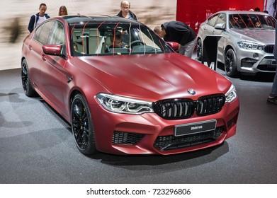 Frankfurt-September 20: BMW M5  at the Frankfurt International Motor Show on September 20, 2017 in Frankfurt