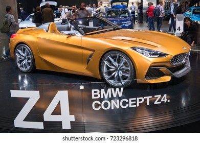 Frankfurt-September 20: BMW Z4 Concept  at the Frankfurt International Motor Show on September 20, 2017 in Frankfurt