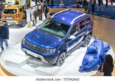 Frankfurt-September 20:  Dacia Duster at the Frankfurt International Motor Show on September 20, 2017 in Frankfurt