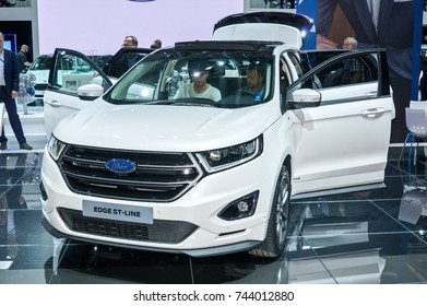 Frankfurt-September 20:  Ford Edge ST-Line at the Frankfurt International Motor Show on September 20, 2017 in Frankfurt