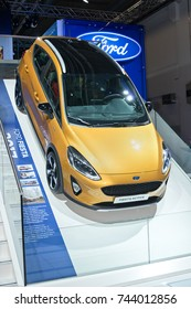 Frankfurt-September 20:  Ford Fiesta Active at the Frankfurt International Motor Show on September 20, 2017 in Frankfurt