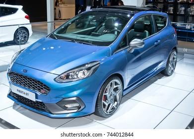 Frankfurt-September 20:  Ford Fiesta ST at the Frankfurt International Motor Show on September 20, 2017 in Frankfurt