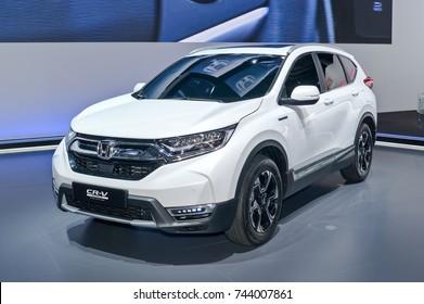 Frankfurt-September 20:  Honda CR-V Hybrid Prototype at the Frankfurt International Motor Show on September 20, 2017 in Frankfurt